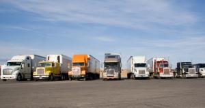 Parked trucks using TruckLogics for time management